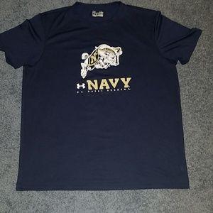 Mens Under Armour Navy XL Loose Heat Gear shirt